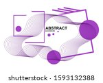 abstract background with curved ... | Shutterstock .eps vector #1593132388