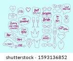 wedding photobooth props kit... | Shutterstock .eps vector #1593136852