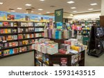Small photo of MINNEAPOLIS, USA, - AUGUST, 8, 2019: Books on display in a bookshop in Minnaepolis, USA.