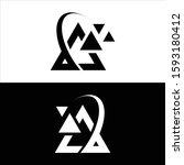 triangle logo design vector in... | Shutterstock .eps vector #1593180412