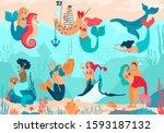 Mermaid Vector Cartoon...