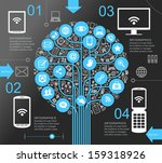 a modern set of infographics... | Shutterstock .eps vector #159318926
