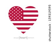 The Vector Heart With American...