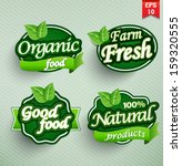 farm fresh food label  badge or ... | Shutterstock .eps vector #159320555