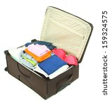 suitcase with clothes isolated...   Shutterstock . vector #159324575