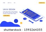 modern ux ui design isometric...