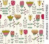 cute flowers. floral seamless... | Shutterstock .eps vector #159329882