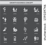 growth concept icons gray... | Shutterstock .eps vector #159339746