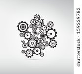 abstract cogs  gears isolated... | Shutterstock .eps vector #159339782