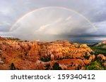 Sunset Rainbow Over Bryce Canyon