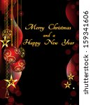 christmas background with... | Shutterstock .eps vector #159341606