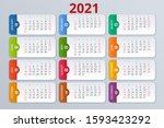 2021 Calendar  Print Template...
