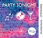 abstract party invitation with... | Shutterstock .eps vector #159343406