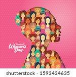 international women's day... | Shutterstock .eps vector #1593434635