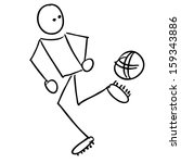 doodle soccer player | Shutterstock .eps vector #159343886