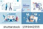 landing page set advertising... | Shutterstock .eps vector #1593442555