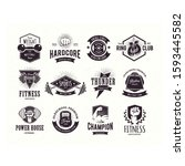 logo vintage retro emblem... | Shutterstock .eps vector #1593445582