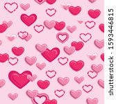 hearts valentines day heart ... | Shutterstock .eps vector #1593446815