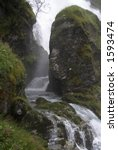 Stream Running In A Gorge On A...