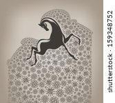 year of the horse | Shutterstock .eps vector #159348752