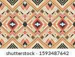 tribal vector ornament.... | Shutterstock .eps vector #1593487642