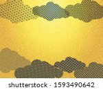 japanese pattern and gold paper ... | Shutterstock . vector #1593490642