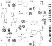 abstract grunge grid stripe... | Shutterstock .eps vector #1593506455