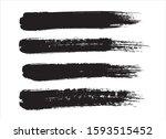 brush stroke paint texture... | Shutterstock .eps vector #1593515452