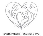 Heart With Flowers Of Snowdrops ...