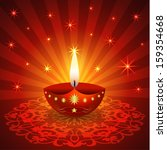 decorative diwali lamp | Shutterstock .eps vector #159354668