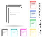 book multi color style icon....