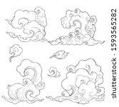 chanciness oriental cloud...   Shutterstock .eps vector #1593565282