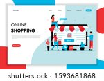 online shopping landing page...