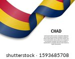 waving ribbon or banner with...   Shutterstock .eps vector #1593685708
