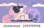 multitasking busy mom and... | Shutterstock .eps vector #1593705958