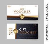 vector set of luxury gift... | Shutterstock .eps vector #1593729232