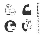muscle icon template color... | Shutterstock .eps vector #1593757522