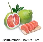Red Pomelo Citrus Fruit On...