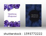 tropic covers set. colorful... | Shutterstock .eps vector #1593772222