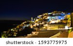 Night Scene Of Santorini Island ...