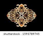 baroque design  luxury european ...   Shutterstock . vector #1593789745
