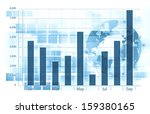 economical graph blue back... | Shutterstock . vector #159380165