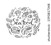 seafood vector illustration.... | Shutterstock .eps vector #1593817348