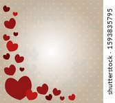 valentine's day vector... | Shutterstock .eps vector #1593835795