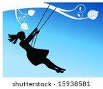 girl on a swing | Shutterstock .eps vector #15938581
