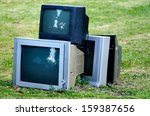 Broken Television Stacked For...