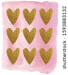 watercolor st. valentines day... | Shutterstock . vector #1593883132