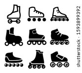 Rollerskate Icon Isolated Sign...