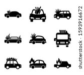 fire car icon isolated sign... | Shutterstock .eps vector #1593916672