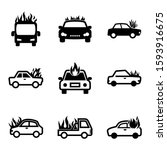 fire car icon isolated sign... | Shutterstock .eps vector #1593916675